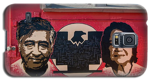 Galaxy S5 Case featuring the photograph Cesar Chavez And Dolores Huerta Mural - Utah by Gary Whitton