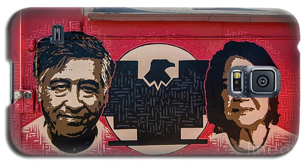 Cesar Chavez And Dolores Huerta Mural - Utah Galaxy S5 Case by Gary Whitton