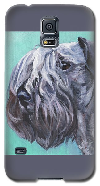 Galaxy S5 Case featuring the painting Cesky Terrier by Lee Ann Shepard