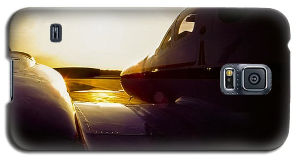 Cessna 421c Golden Eagle IIi Silhouette Galaxy S5 Case by Greg Reed