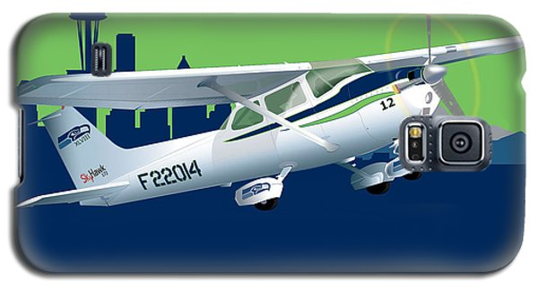 Galaxy S5 Case featuring the drawing Cessna Skyhawk 172 by Kenneth De Tore
