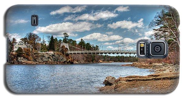 Chain Bridge On The Merrimack Galaxy S5 Case