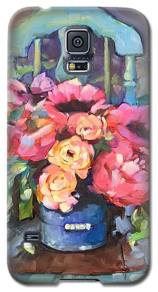 Chair With Flowers Galaxy S5 Case