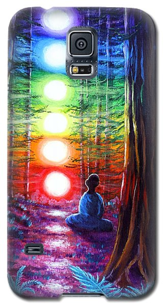 Chakra Meditation In The Redwoods Galaxy S5 Case
