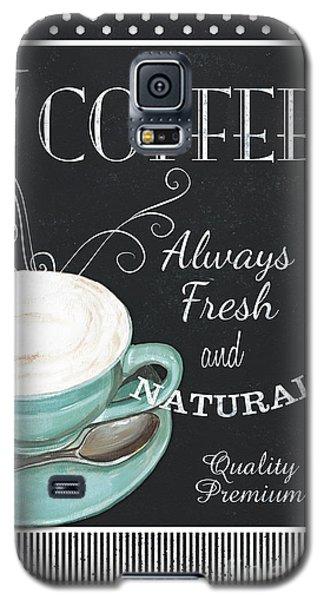 Galaxy S5 Case featuring the painting Chalkboard Retro Coffee Shop 1 by Debbie DeWitt