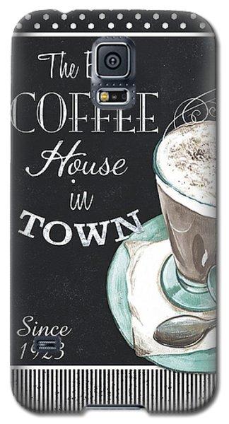 Galaxy S5 Case featuring the painting Chalkboard Retro Coffee Shop 2 by Debbie DeWitt