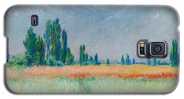 Galaxy S5 Case featuring the painting Champ De Ble by Claude Monet