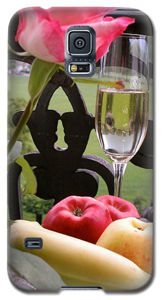 Galaxy S5 Case featuring the photograph Champagne On The Balcony by Carl Purcell