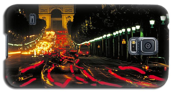 Champs Elysee In Paris Galaxy S5 Case by Carl Purcell