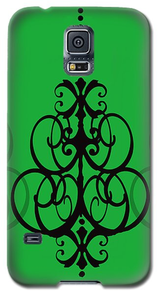 Galaxy S5 Case featuring the photograph Chandelier Delight 1- Green Background by KayeCee Spain