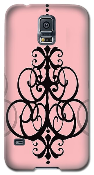 Galaxy S5 Case featuring the photograph Chandelier Delight 1- Pink Background by KayeCee Spain