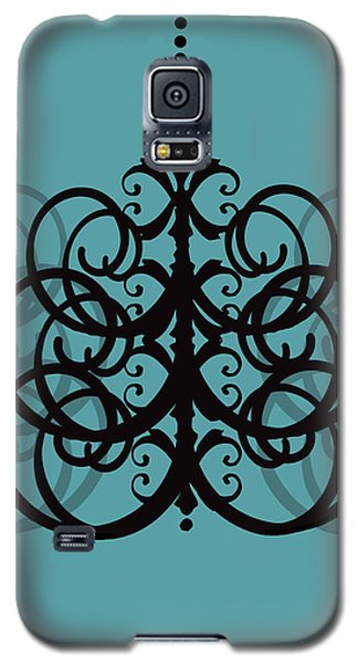 Galaxy S5 Case featuring the photograph Chandelier Delight 2- Blue Background by KayeCee Spain