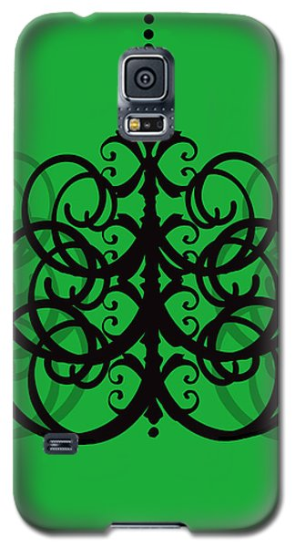 Galaxy S5 Case featuring the photograph Chandelier Delight 2- Green Background by KayeCee Spain