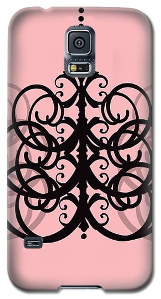 Galaxy S5 Case featuring the photograph Chandelier Delight 2- Pink Background by KayeCee Spain