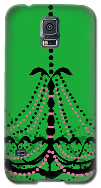 Galaxy S5 Case featuring the photograph Chandelier Delight 3- Green Background by KayeCee Spain