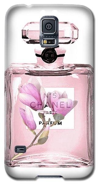 Magnolia Galaxy S5 Case - Chanel N 5 With Magnolia by Del Art