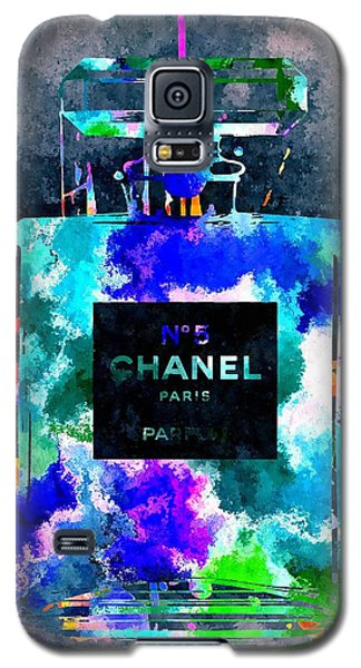 Chanel No 5 Dark Grunge Galaxy S5 Case by Daniel Janda