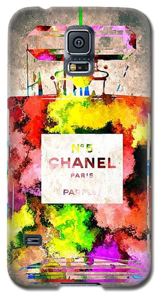 Chanel No 5 Grunge Galaxy S5 Case by Daniel Janda