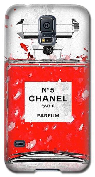 Chanel No 5 Red Galaxy S5 Case