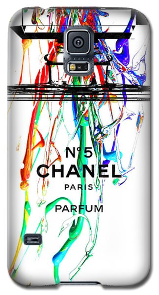 Chanel No. 5 Watercolor Galaxy S5 Case by Daniel Janda