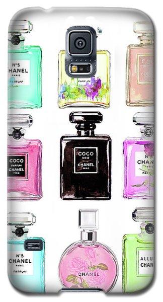 Watercolor Galaxy S5 Case - Chanel Perfume Set 9er by Del Art