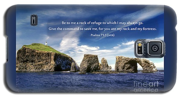 Channel Island National Park - Anacapa Island Arch With Bible Verse Galaxy S5 Case