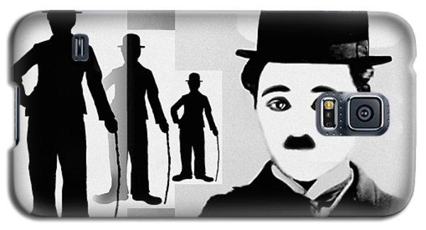 Galaxy S5 Case featuring the digital art Chaplin, Charlie Chaplin by Hartmut Jager