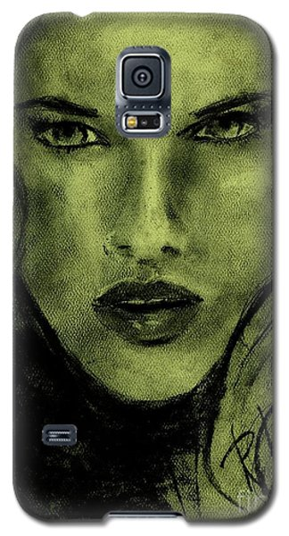 Galaxy S5 Case featuring the drawing char-Carol by P J Lewis