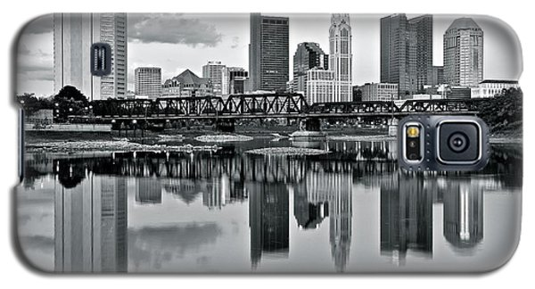 Charcoal Columbus Mirror Image Galaxy S5 Case by Frozen in Time Fine Art Photography