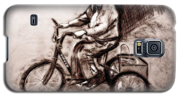 Charcoal Drawing Of Pedal To The Metal By Ayasha Loya Galaxy S5 Case by Ayasha Loya