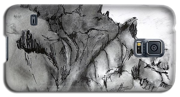 Charcoal Sea Rocks Galaxy S5 Case