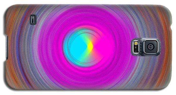 Galaxy S5 Case featuring the digital art Charcoal Spiral by Prakash Ghai