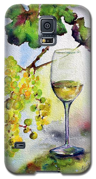 Chardonnay Wine Glass And Grapes Galaxy S5 Case