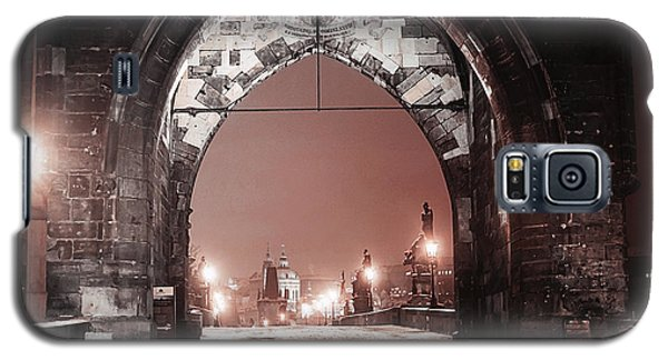 Galaxy S5 Case featuring the photograph Charles Bridge In Winter. Prague by Jenny Rainbow