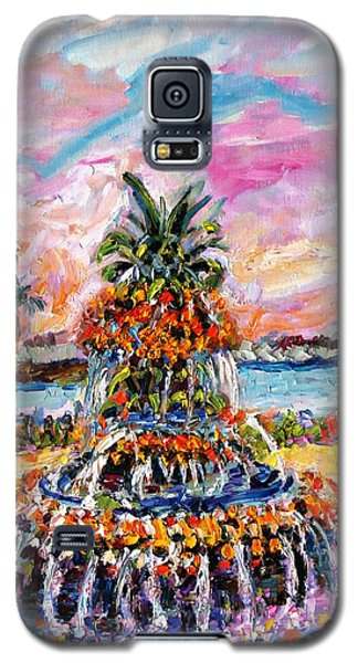 Charleston Pineapple Fountain Sc Galaxy S5 Case by Ginette Callaway