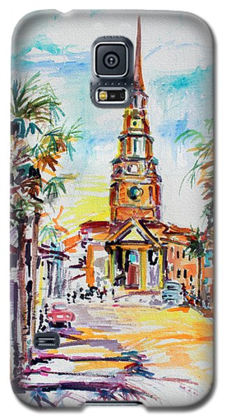 Galaxy S5 Case featuring the painting Charleston South Carolina Episcopal Church by Ginette Callaway