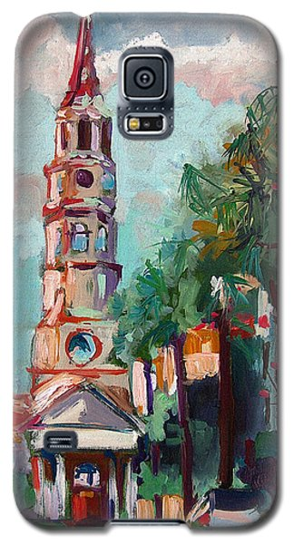 Galaxy S5 Case featuring the painting Charleston St Phillips Church by Ginette Callaway