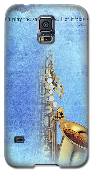 Charlie Parker Saxophone Vintage Poster And Quote, Gift For Musicians Galaxy S5 Case by Pablo Franchi