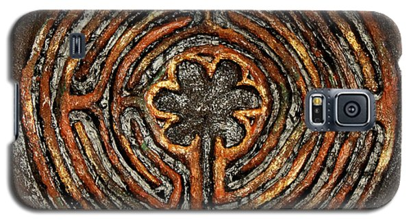 Chartres Style Labyrinth Earth Tones Galaxy S5 Case