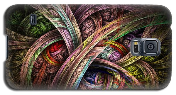 Galaxy S5 Case featuring the digital art Chasing Colors - Fractal Art by NirvanaBlues