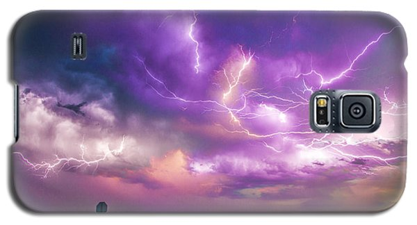 Chasing Nebraska Lightning 056 Galaxy S5 Case