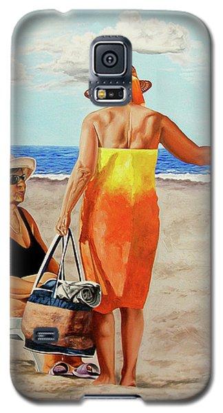 Chat On The Beach - Chat En La Playa Galaxy S5 Case