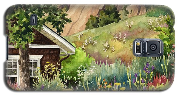 Galaxy S5 Case featuring the painting Chautauqua Cottage by Anne Gifford