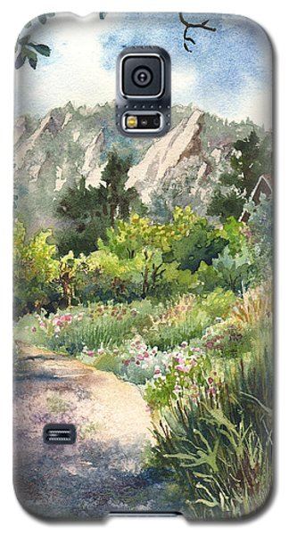 Galaxy S5 Case featuring the painting Chautauqua Morning by Anne Gifford