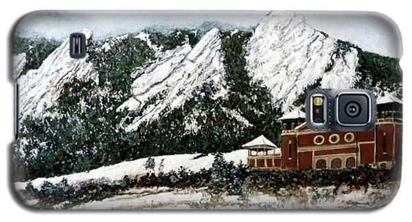 Galaxy S5 Case featuring the painting Chautauqua - Winter, Late Afternoon by Tom Roderick