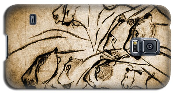 Chauvet Cave Lions Burned Leather Galaxy S5 Case