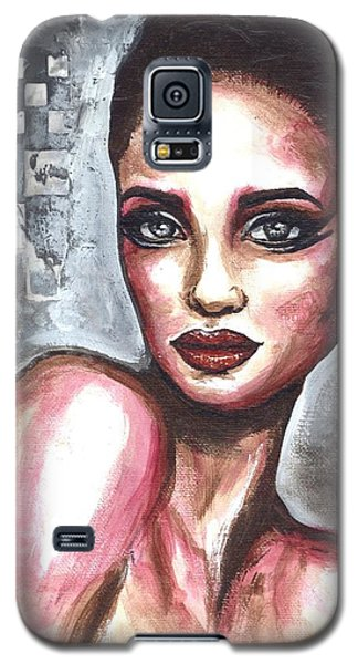 Galaxy S5 Case featuring the painting Checkered Past by Alga Washington