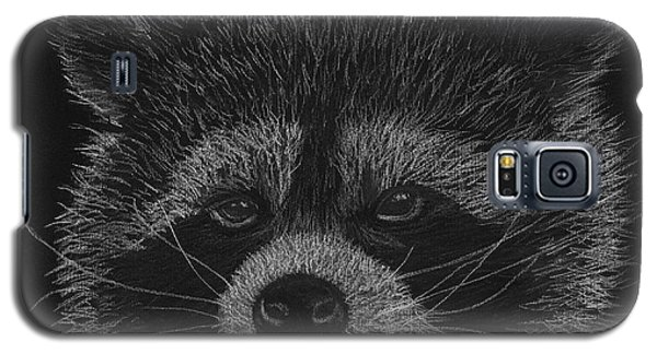Cheeky Little Guy - Racoon Pastel Drawing Galaxy S5 Case