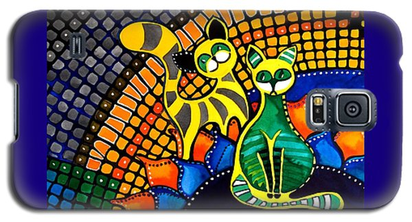 Cheer Up My Friend - Cat Art By Dora Hathazi Mendes Galaxy S5 Case