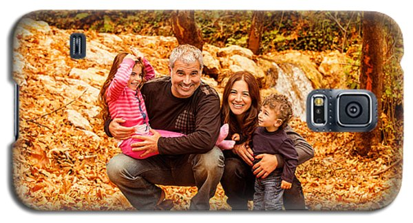 Cheerful Family In Autumn Woods Galaxy S5 Case